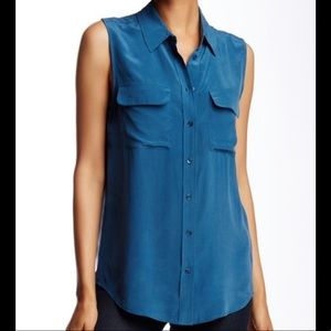 Equipment Sleeveless Silk Blouse